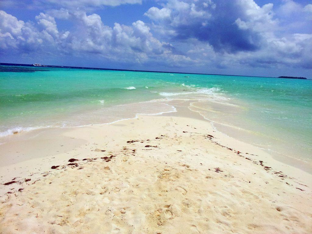 Malediven einsame Insel