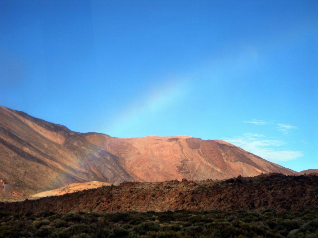 Teneriffa Berg Teide Regenbogen