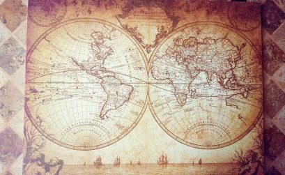 Vintage Weltkarte - Geschenkidee - Salty toes Reiseblog