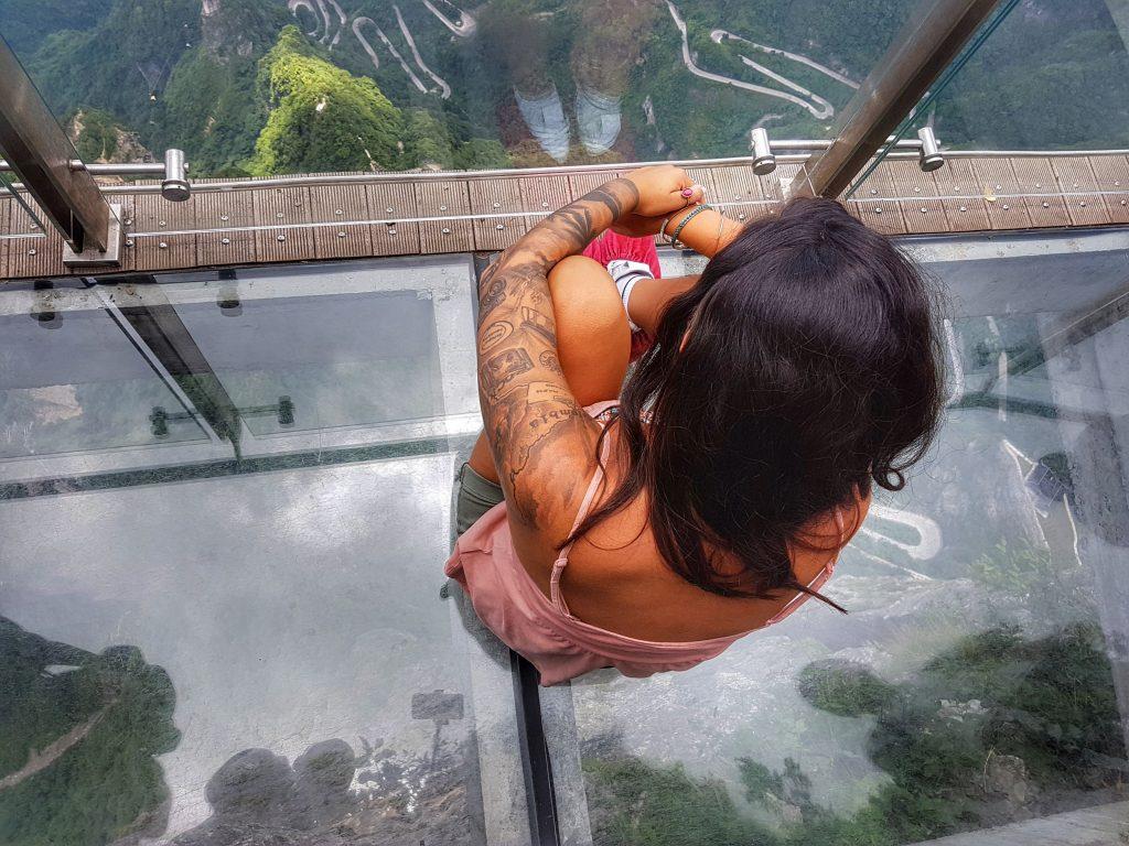 Tianmen Mountain Zhangjiajie Glasbrücke - China - Salty toes Reiseblog