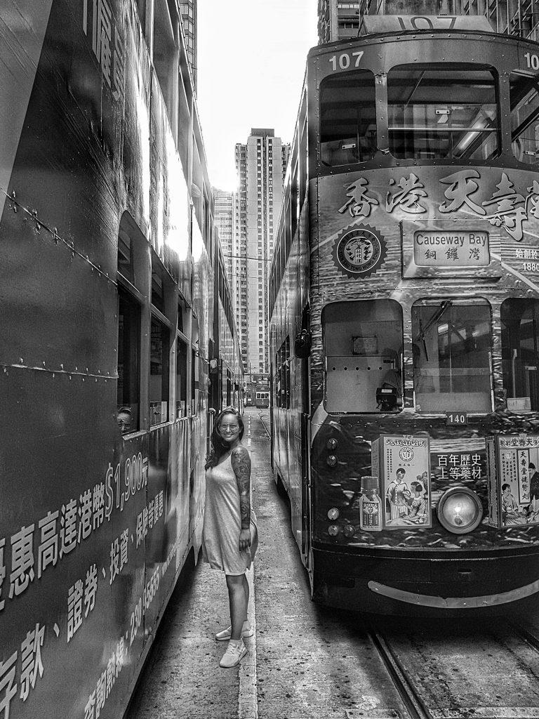 Hong Kong Straßenbahn - Salty toes Reiseblog