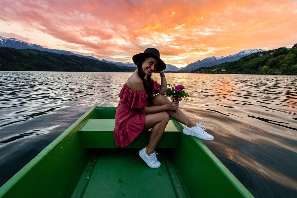 Kanu fahren im Juwel in Kärnten