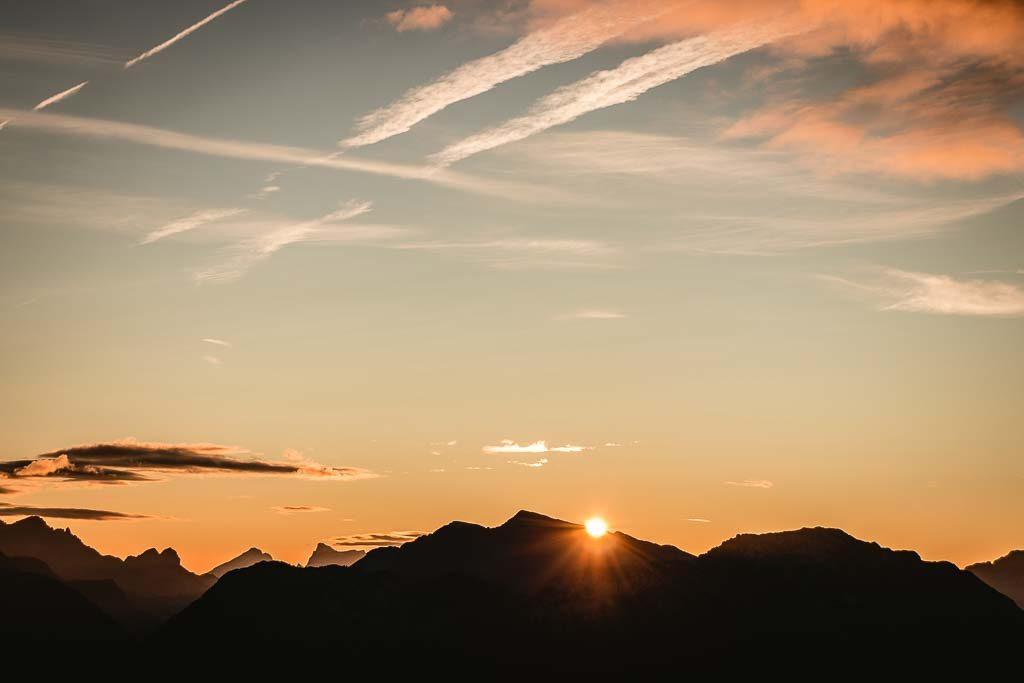Die schönsten Sonnenaufgängen im Eggental, Südtirol