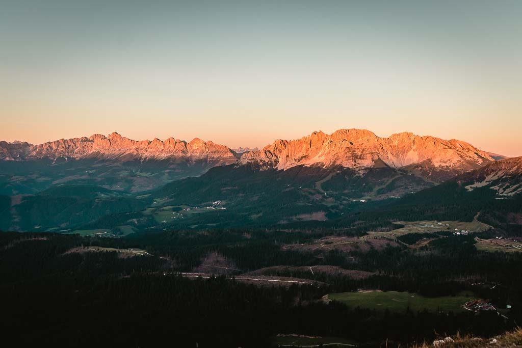Weißhorn - Der schönste Sonnenuntergang im Eggental, Südtirol