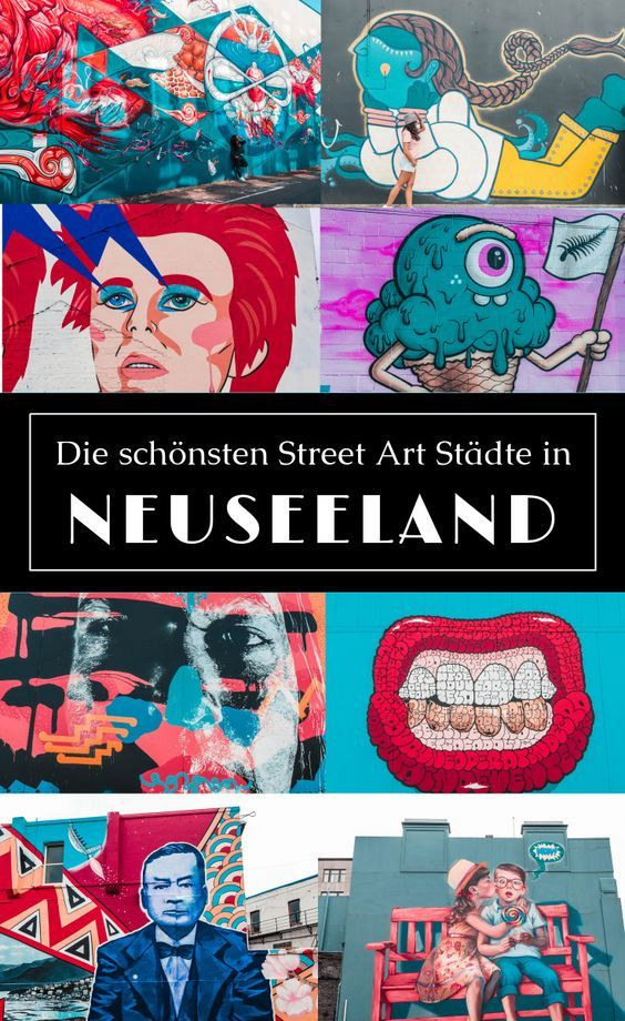 Street Art Neuseeland - Kunst der etwas anderen Art