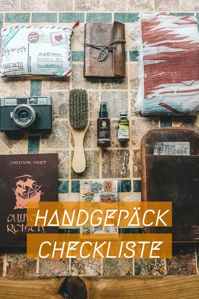 Kostenlose Packliste für dein Handgepäck!